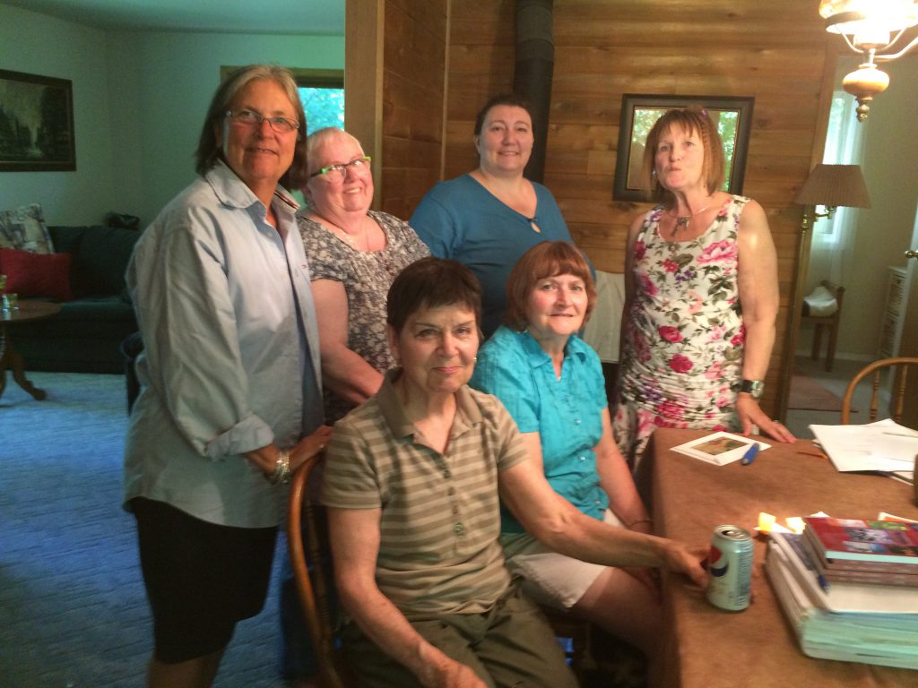 LWWG meeting at Pam's place, June 2016