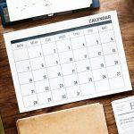 Events Stock Calendar Image